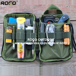 TTGTACTICAL Mini Tactical Molle EDC Compact Pocket Organizer Pouch MOLLE Gadget EDC Utility Pocket Pouch Organizer