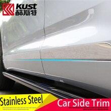 KUST Stainless Steel Car Side Cover For Toyota For Highlander 2015 Suv Side Trim Sticker For Highlander Exterior Accessories