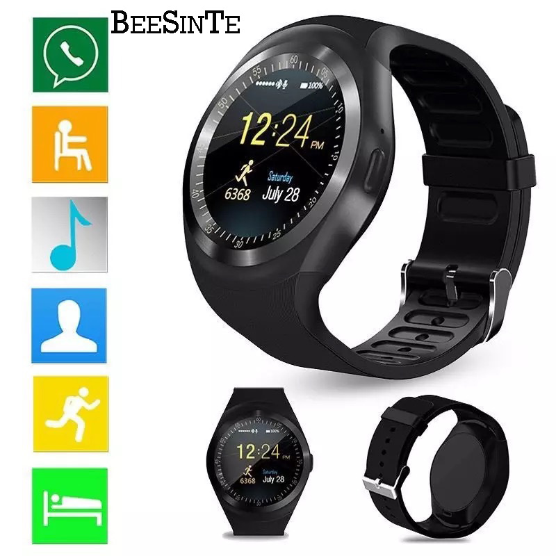Image 3 - Smart Watch Bluetooth Smart wristband water proof Phone Call Support  with GSM Sim fitness tracker For Android Information-in Smart Watches from Consumer Electronics