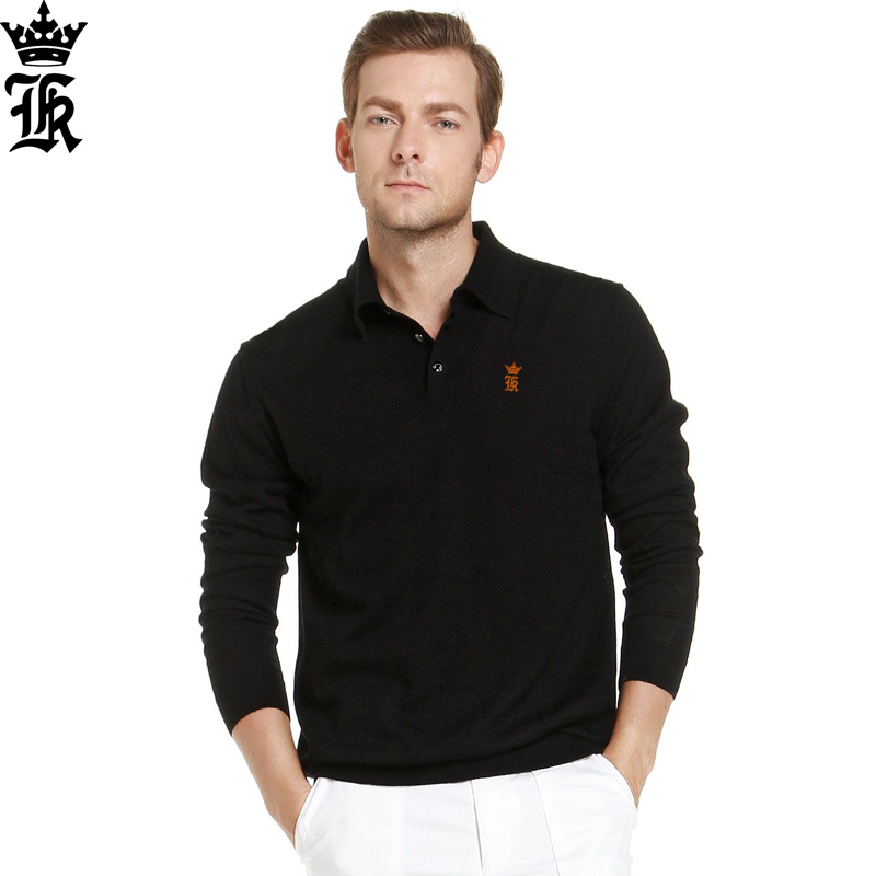 2017 Fashion Sergio K. Camisa Polo Hombre Shirt Mens Long Sleeve Casual Embroidery Camisetas Masculinas Polos Homens Sweatshirt