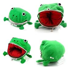 2019 1pcs Hot Selling Frog Wallet Anime Cartoon Wallet Coin Purse Manga Flannel Wallet Cute purse Naruto Coin holder(China)