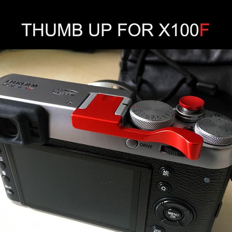 Red Color Aluminum Thumb UP Metal Thumb Rest Thumb Grip For Fuji X100F FUJIFILM X100F  Hot Shoe Cover