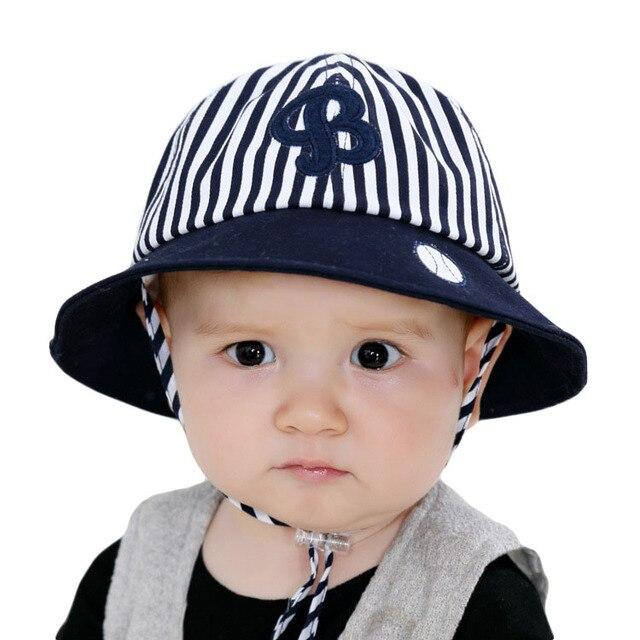 8921e10e43ef Mode enfants chapeaux B lettre cap Coton Bébé Chapeau D été casquettes pour  Filles Garçons