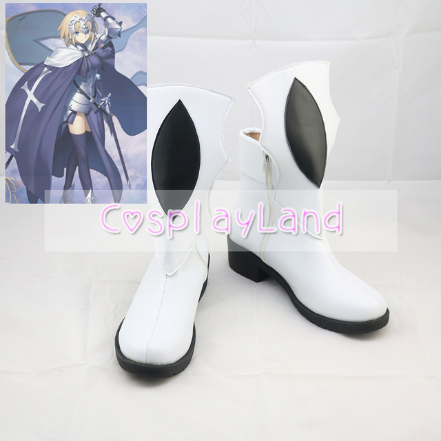 d362ff013 FGO Fate Grand Order Jeanne D Arc Alter Santa Lily Cosplay Shoes Boots for  Adult Women Shoes Costume Accessories Custom Made