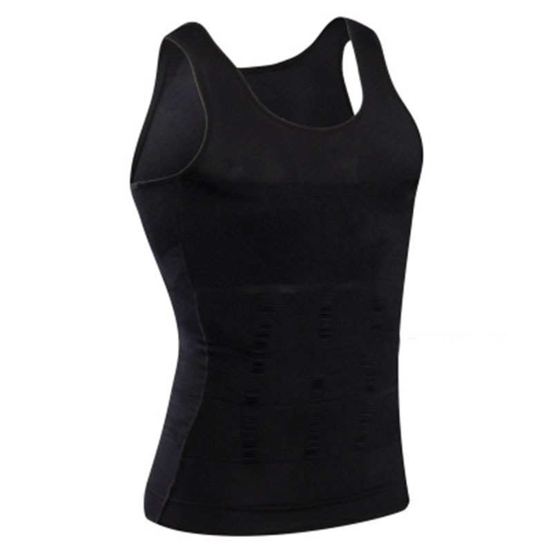 Slim Corset Men Body Shapers Plus Size Compression Solid Undershirts Sexy Trainer Shapewears Belly Waist Burning Tank Tops 40%Y
