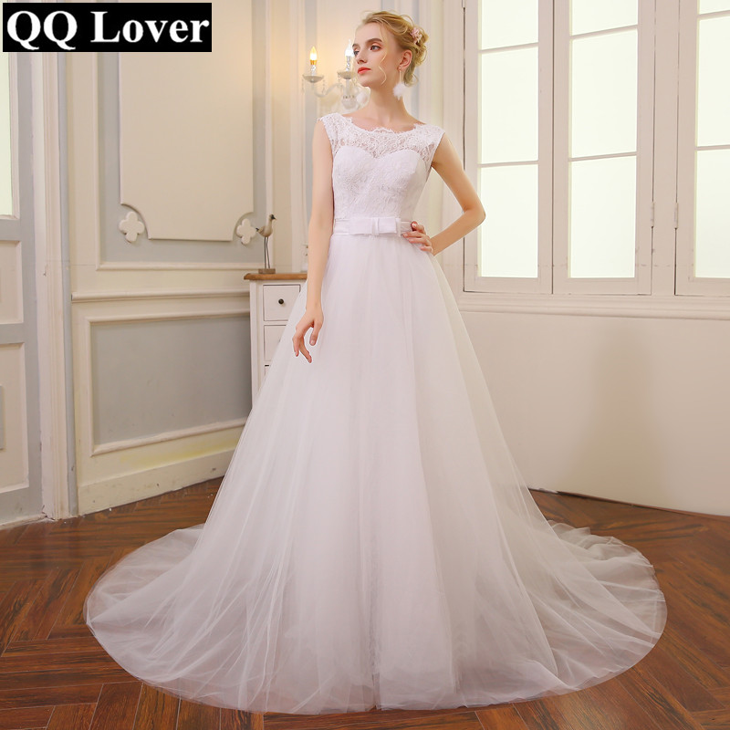QQ Lover 2 In 1 Mermaid Wedding Dress With Tulle Detachable Train Cheap Or Only Mermaid Vestido De Novia Wedding Gown 2019