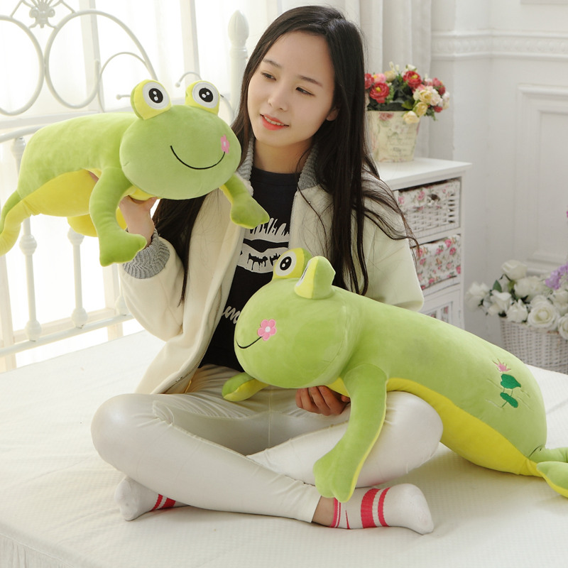 Cartoon Frog plush pillow toys for children gift Contain Plush Flannel blanket Bedroom cushion 60cm cartoon dog plush pillow shiba inu toys for children gift contain plush flannel blanket bedroom cushion
