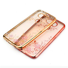 For LG G6 G 6 H870 Case Flower Bling Diamond Soft Silicone TPU Clear Back Cover For LG G5 G 5 H850 H840 H845 Phone Cases Funda все цены
