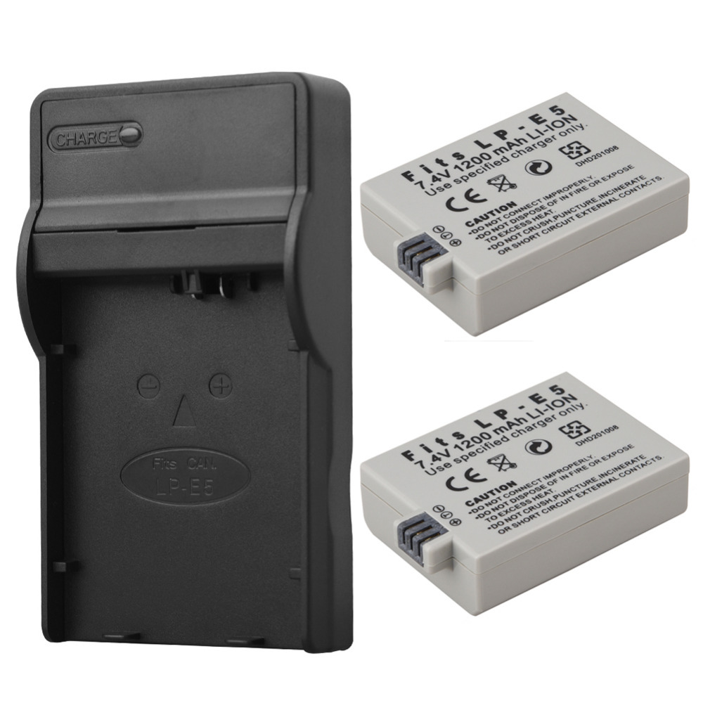 Chargers For Canon Eos 450d 500d 1000d Camera Battery Lp-e5 Charger Consumer Electronics