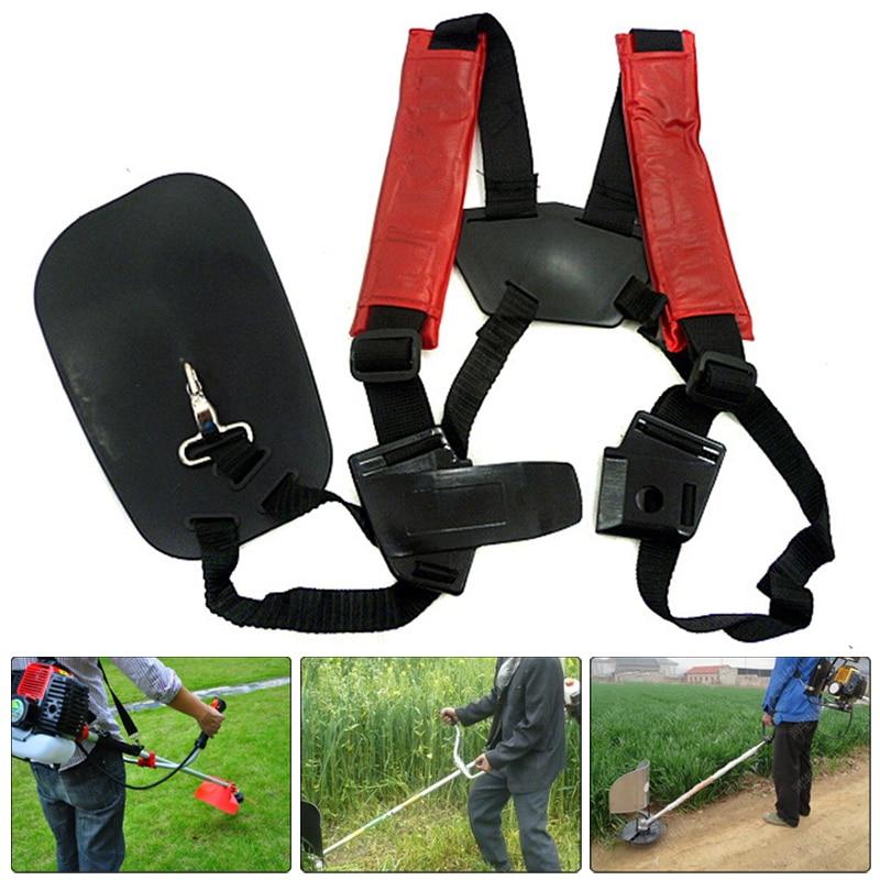 1X Nylon Double Shoulder Harness Lawn Mower Strap Grass String Trimmer Brush Cutter Harness Belt Garden Power Pruner
