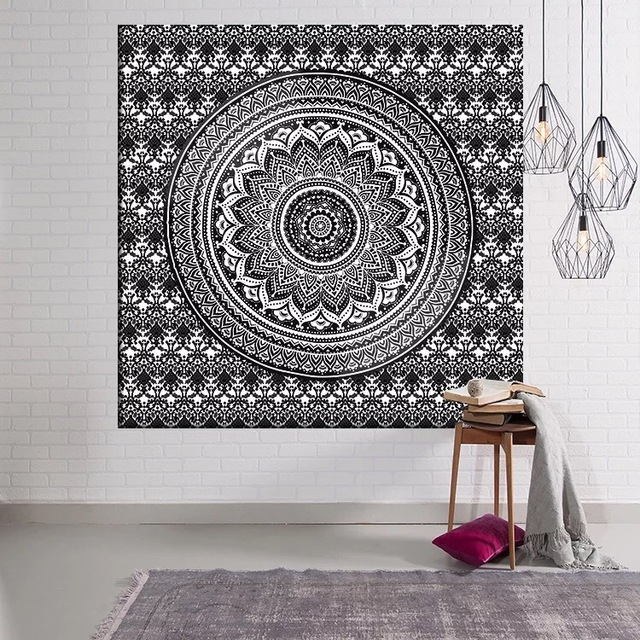 LFH Indian Wall Decor Hippie Tapestries Bohemian Mandala Tapestry Wall  Hanging Throw Wall Art Collage Dorm