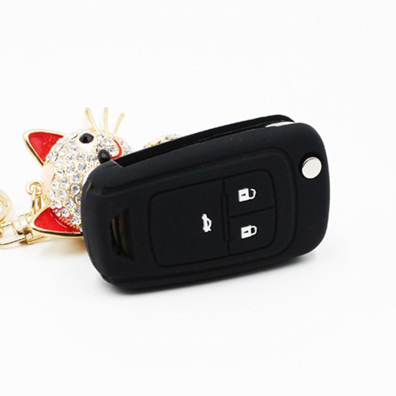 Silicone Car Key Cover Case Set For Chevrolet Cruze 2013 Spark Onix Silverado Volt Camaro Aveo Sonic Remote Keychain Accessories