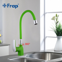 Frap new Green Silica Gel Nose Any Direction Kitchen Faucet Cold and Hot Water Mixer Torneira Cozinha monocomando Crane F4453-05