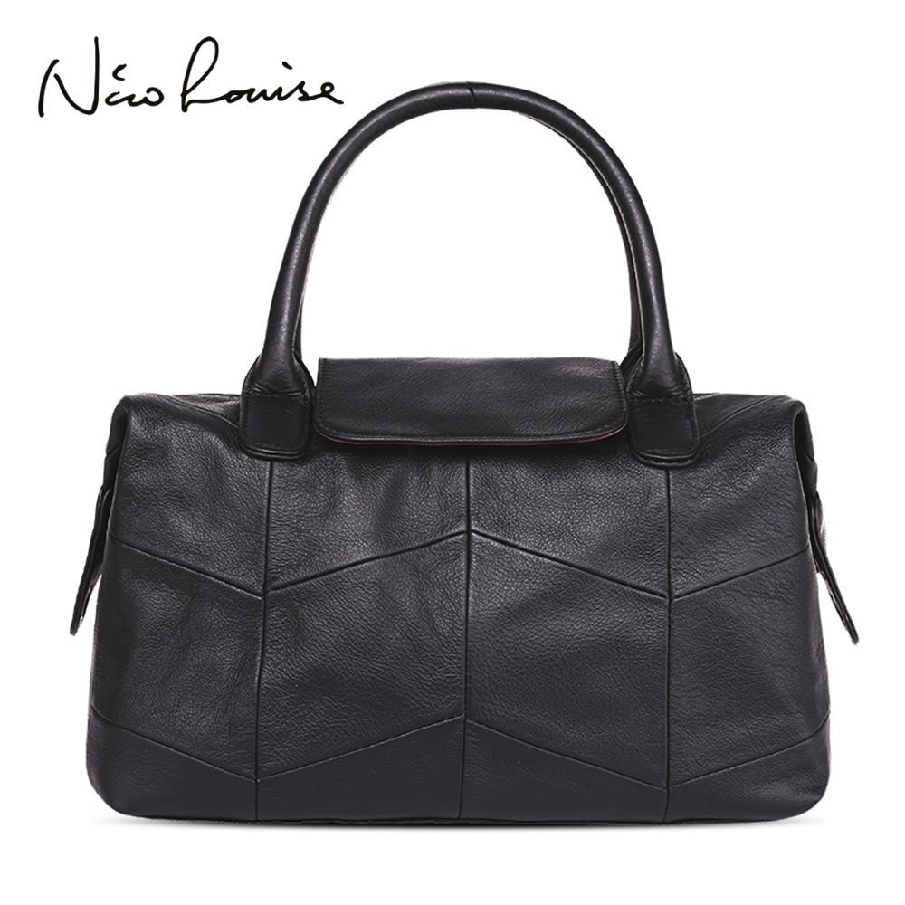Nico Louise Women Genuine Leather Bag Ladies Designer Luxury Handbag Leisure Messenger Pillow Top handle bags