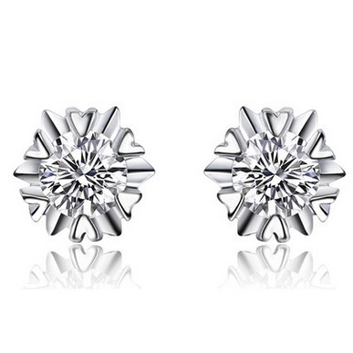 0 2ct Diamond Earrings Gvbori 18k White Gold For Women Fine Jewelry Snowflakes In From Accessories On