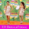 Ariana Grande vestido 2011 Kids Choice Awards Red Carpet Celebrity cóctel corto vestido del partido gasa vestido de graduación