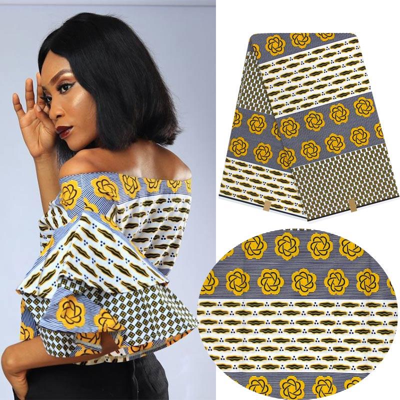 Ankara africain cire impression tissu fleur impression tissu cire dernière cire tissu H180510-in Tissu from Maison & Animalerie    1