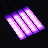 4pcs Remote Control LED Strip Lights Colors Car Styling Decorative Atmosphere Lamps Car Interior Light Car