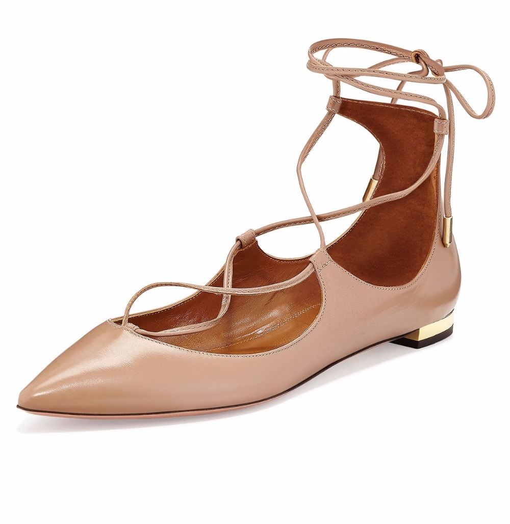 Womens Ladies Handmade Ankle Strap Shoes Lace-up Ballets Flats Shoes CKE125 amourplato womens handmade pointed toe ankle wrap flats bridesmaid ballerinas ankle strap flats shoes with buckle size5 13
