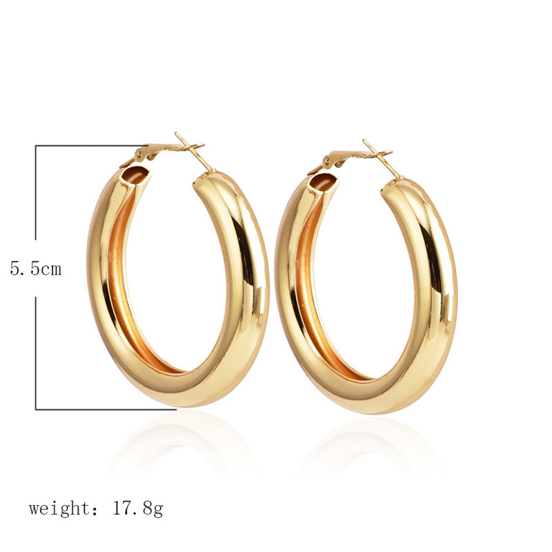 IF-YOU-Fashion-Gold-Color-Oversize-Hoop-Earrings-For-Women-Bohemia-Wide-Big-Round-Statement-Earring