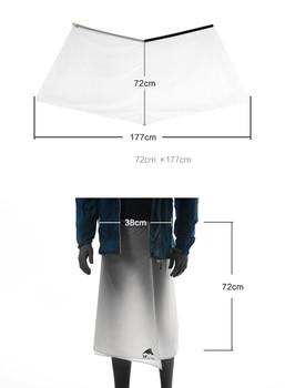 3F UL GEAR Hiking Rain Pants Lightweight Waterproof Rain Skirt 65g 4