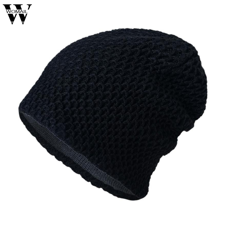CharmDemon 2017 Men Women Unisex Causal Warm Winter Knit Baggy Beanie Hat Ski Slouchy Cap au4 knit men s women s baggy beanie oversize winter warm hat slouchy chic crochet knitted cap skull