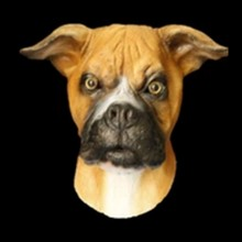 Halloween Latex Canine Pet Animal Full Head Boxer Dog Party Mask
