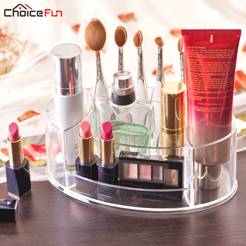 Makeup-Brush-Organizer Cosmetic Make-Up Storage-Stand Vanity Acrylic Plastic Clear Comb