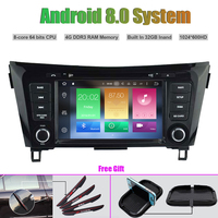 Octa Core Android 8.0 CAR DVD Player for NISSAN QASHQAI X TRAIL ROGUE 2014