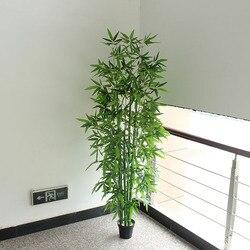 Künstliche bambus 6 stücke 150 cm/180 cm gefälschte bambus ohne topf greenery büro wohnzimmer dekoration gefälschte bambus anlage