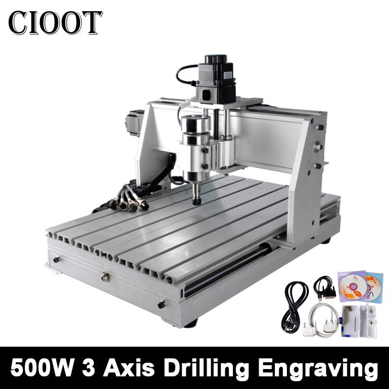 3040T With ER11 500W CNC Router Engraving Machine 3 Axis Spindle Motor Drilling Tools Router Pcb PVC Milling Machine Wood Router jft cnc router 3040 600w 4 axis with usb 2 0 port high precision mini jewelry cnc router wood engraving drilling milling machine
