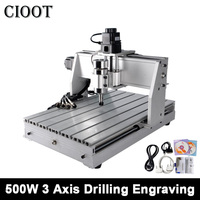 3040T Engraving Machine 500W CNC Spindle Motor 3 Axis PVB PVC Spindle Motor Drilling Router Tools Milling Machine Engraver Wood