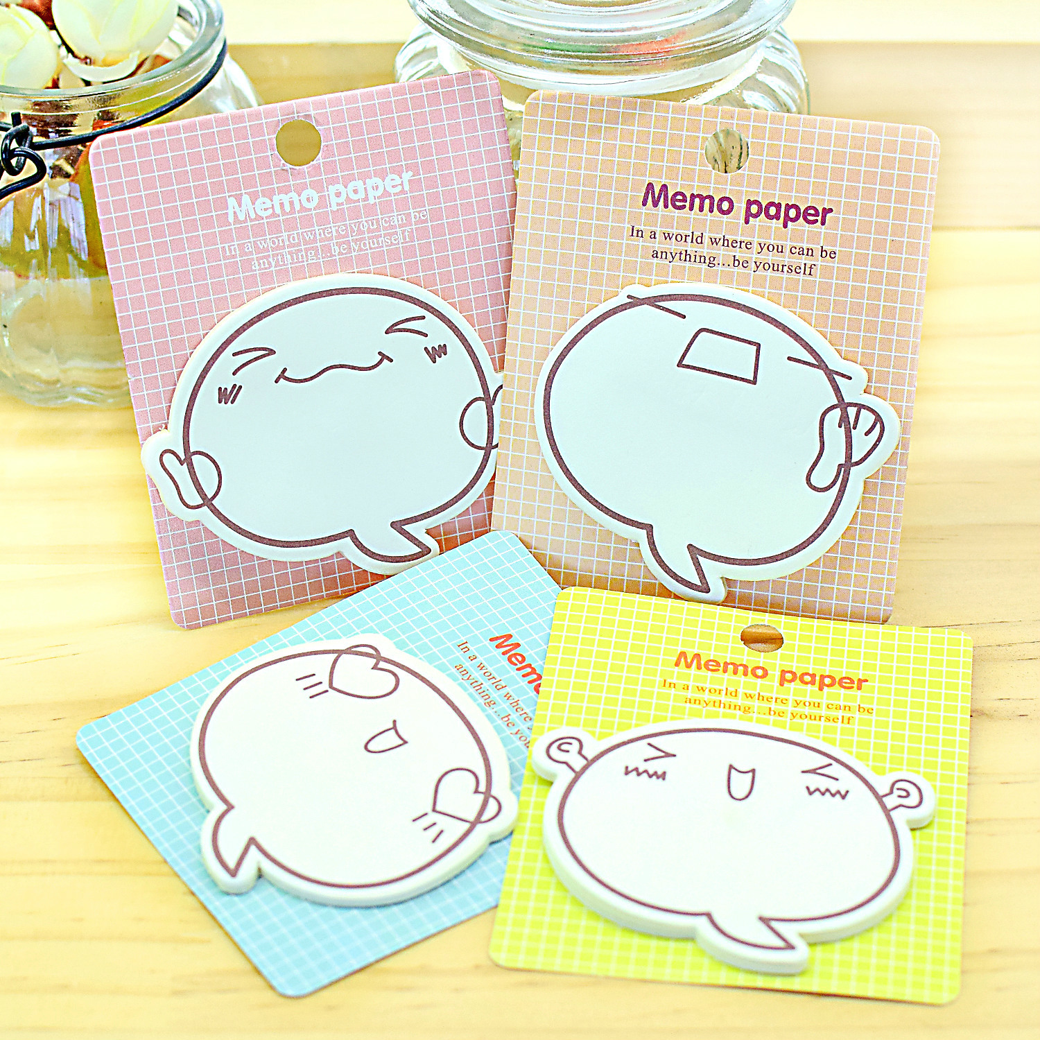 100 pcs Korean stationery lovely memo motivational expression N postings convenience note wholesale note