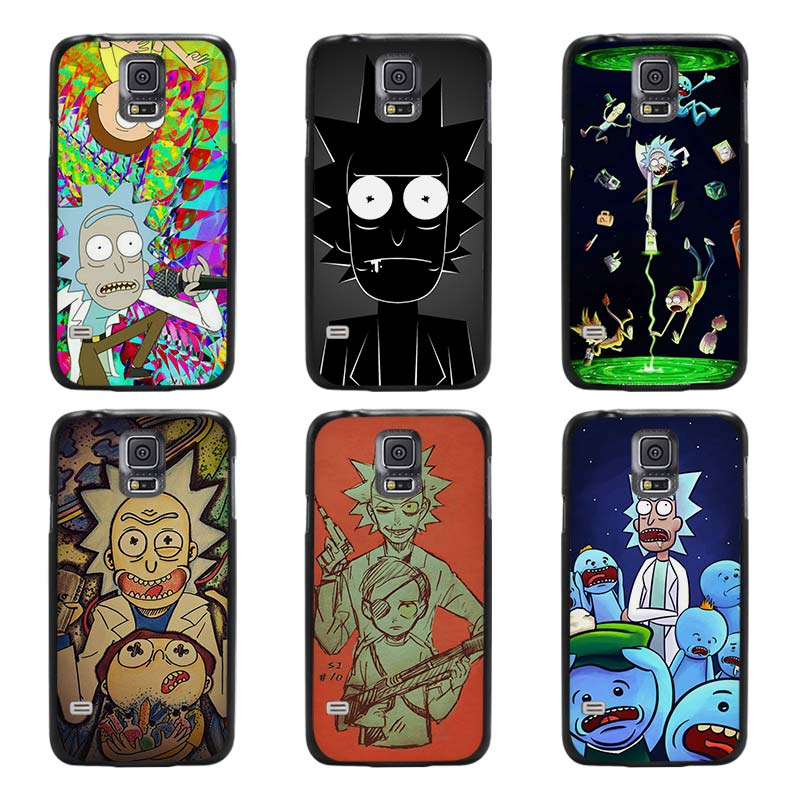 rick and morty season black case cover scrub shell coque. Black Bedroom Furniture Sets. Home Design Ideas