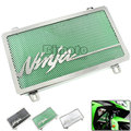 BJGLOBAL Motorcycle Stainless Steel Radiator Guard Cover Protector Green For Kawasaki Ninja EX 250 300 ZX250R ZX300R