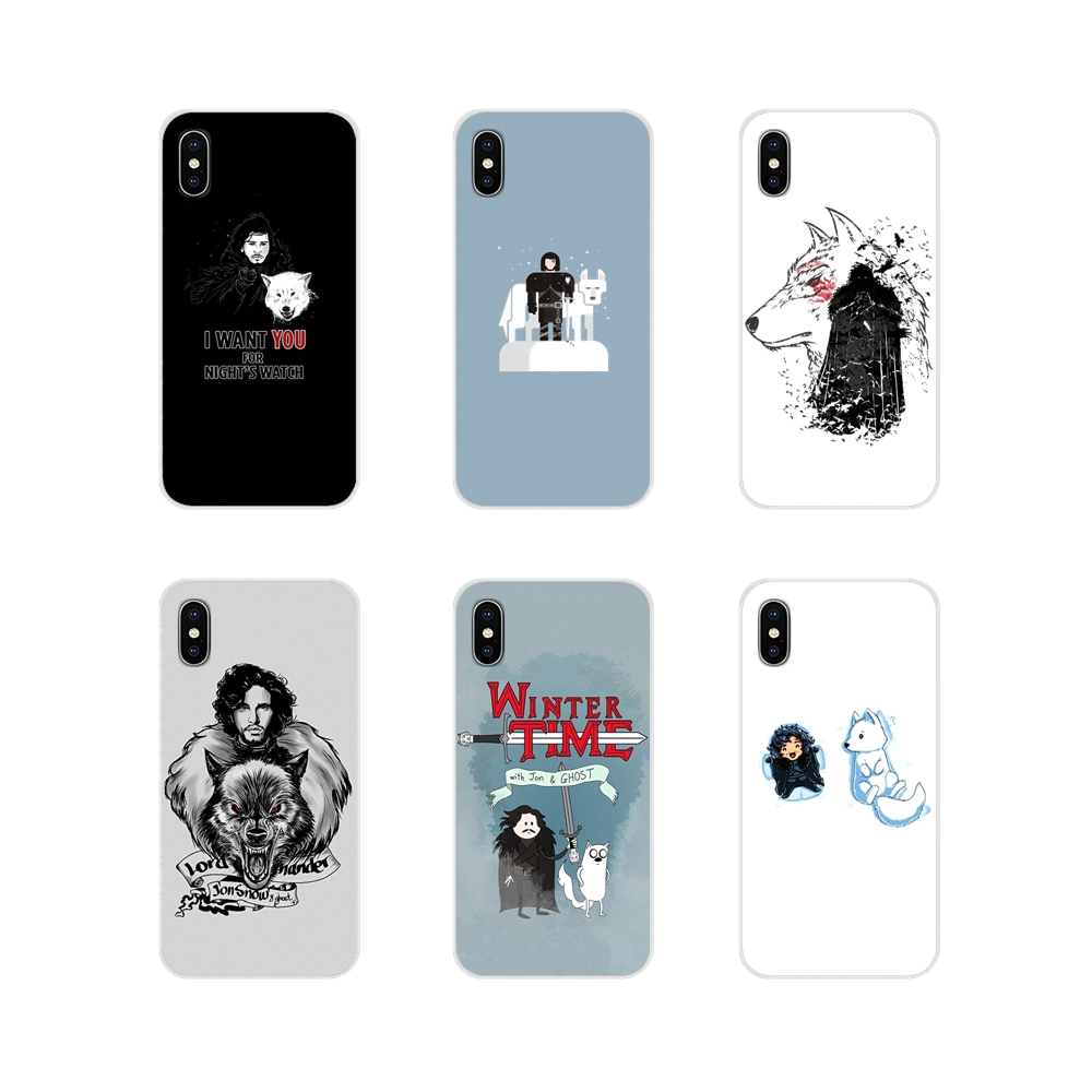 Jon Snow Game of Thrones GOT <font><b>Dogs</b></font> For <font><b>Huawei</b></font> P8 9 Lite Nova 2i 3i GR3 Y6 Pro <font><b>Y7</b></font> Y8 Y9 Prime 2017 2018 <font><b>2019</b></font> TPU Transparent Cover image