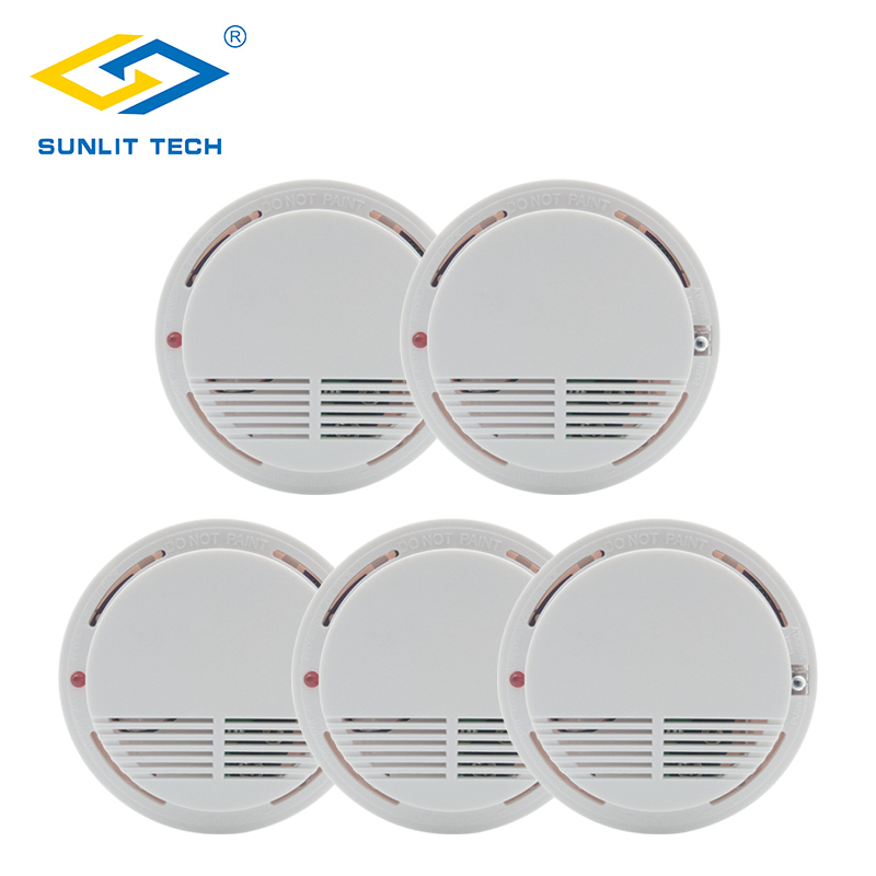 цены 5pcs/lot Wireless Smoke Detector Fire Protection 433MHz High Sensitive Smoke Sensor Wifi Alarm for Home Office Security System