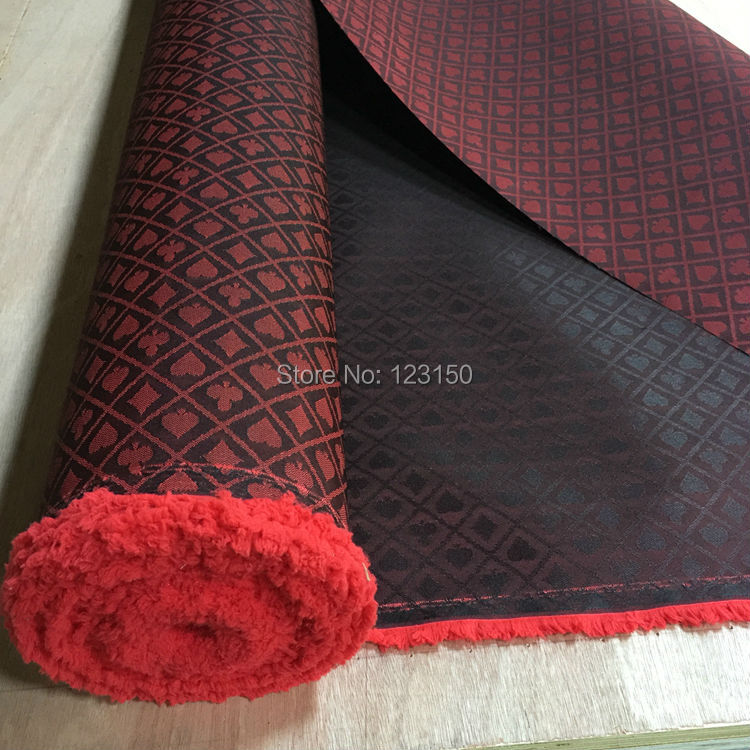 FT-03 Two-tone Poker Table Speed Cloth, New Design, Black And Red Waterproof Suited High Speed Cloth For Poker Table