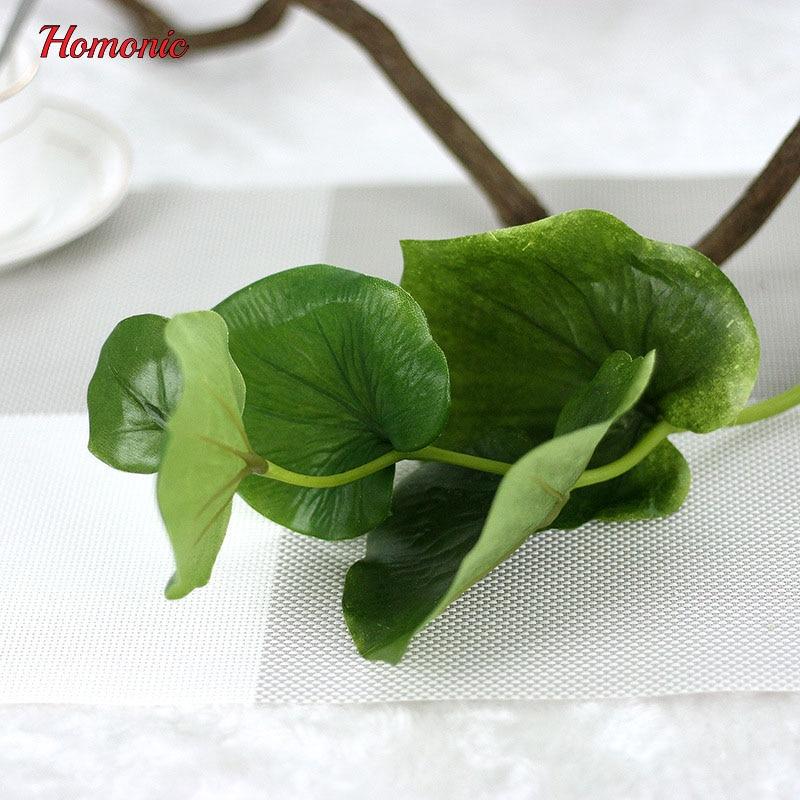 5PCS vihreä perhonen keinotekoiset lehdet kasvi silkki kukka häät - Tavarat lomien ja puolueiden - Valokuva 5
