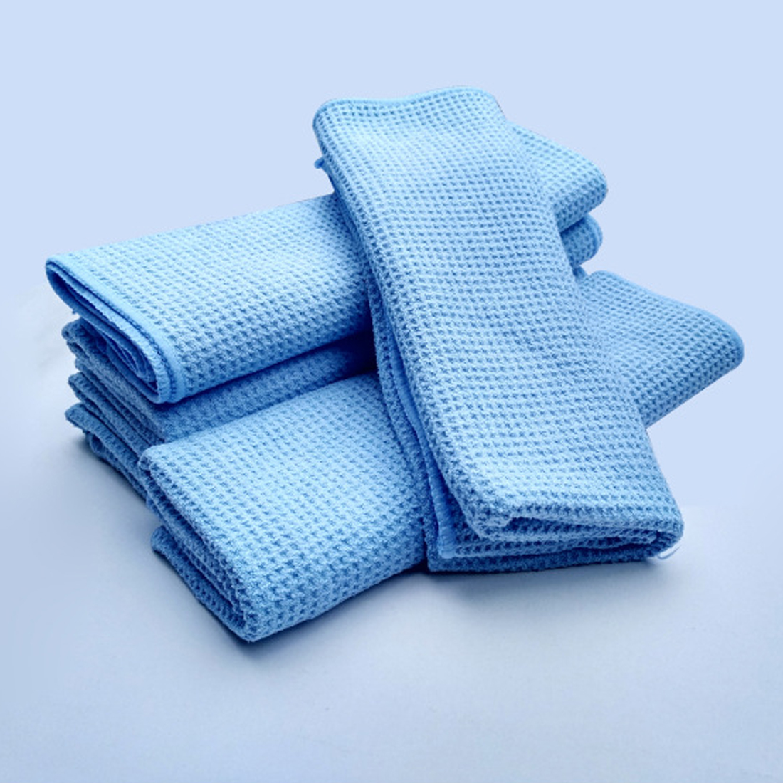 BU Bauty Blue Water Magnet Microfiber Drying Towel with Waffle Weave ...