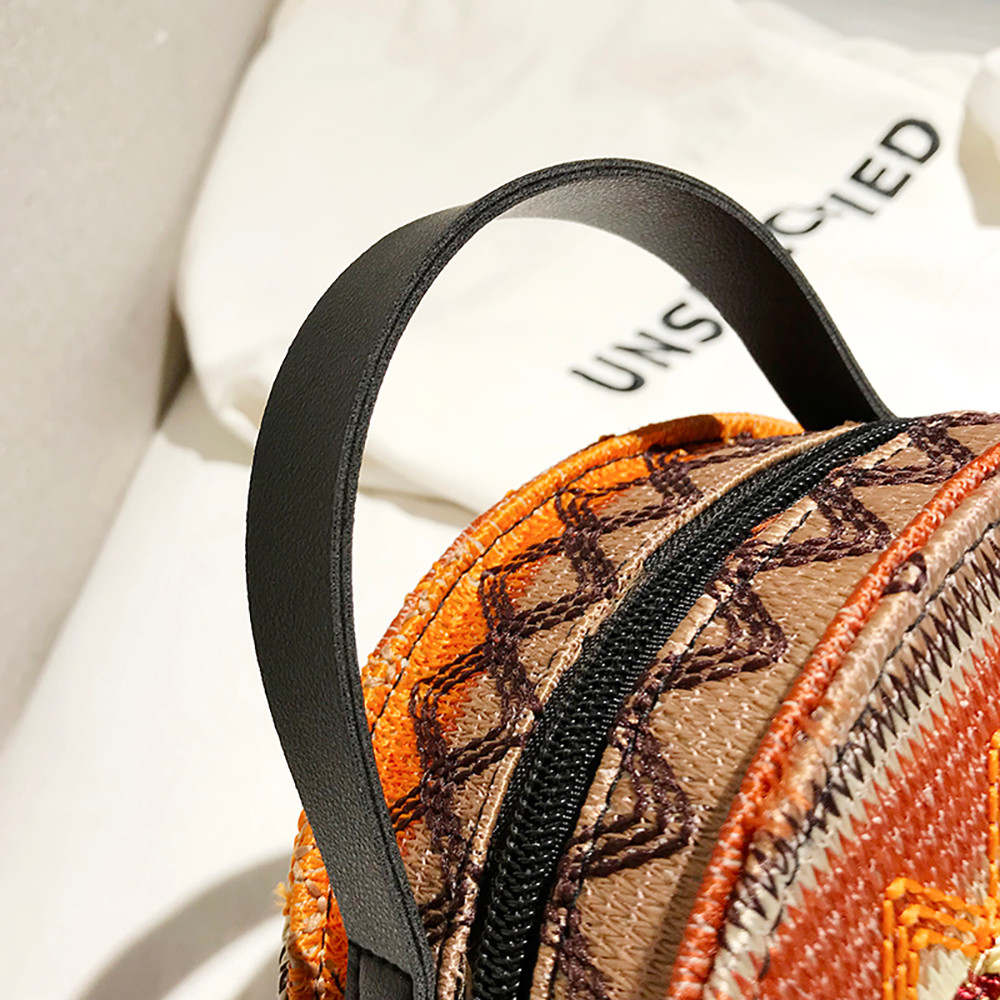 Women Tassel Chain Small Bags national wind round bag packet Lady Fashion Round Shoulder Bag Bolsos Mujer#A02 109