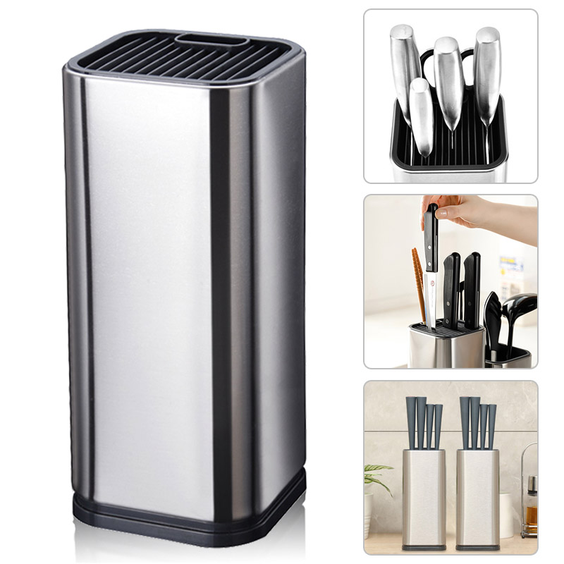 High Quality Kitchen Knife Block Stainless Steel Knife Stand Holder Universal Stand For Knives Scissors Kitchen Accessories