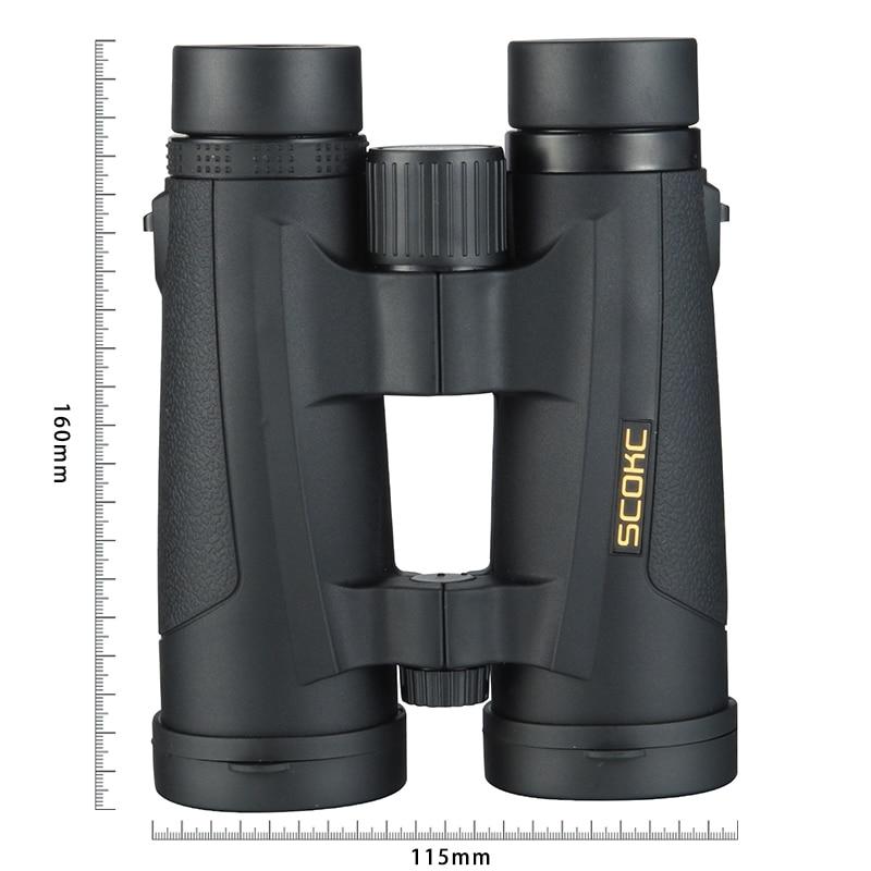 SCOKC 8x42 Compacto Telescópio Binóculos para Observação de Aves Bak4 Preenchida com Nitrogênio À Prova D' Água para viajar Caça Birding