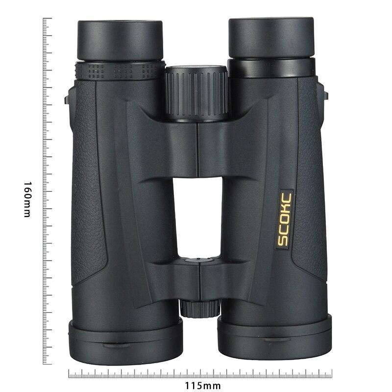 SCOKC 8x42 jumelles compactes pour l'observation des oiseaux étanche Bak4 télescope rempli d'azote pour voyager chasse Birding