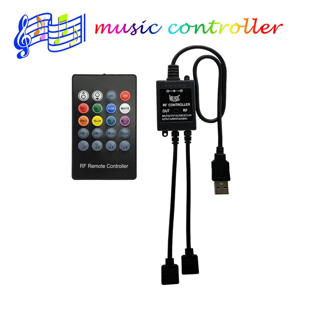 20Keys USB Led RGB Controller DC 5V RF Music Sound Sensor Remote Controller For SMD 3528 5050 RGB LED Strip Lights
