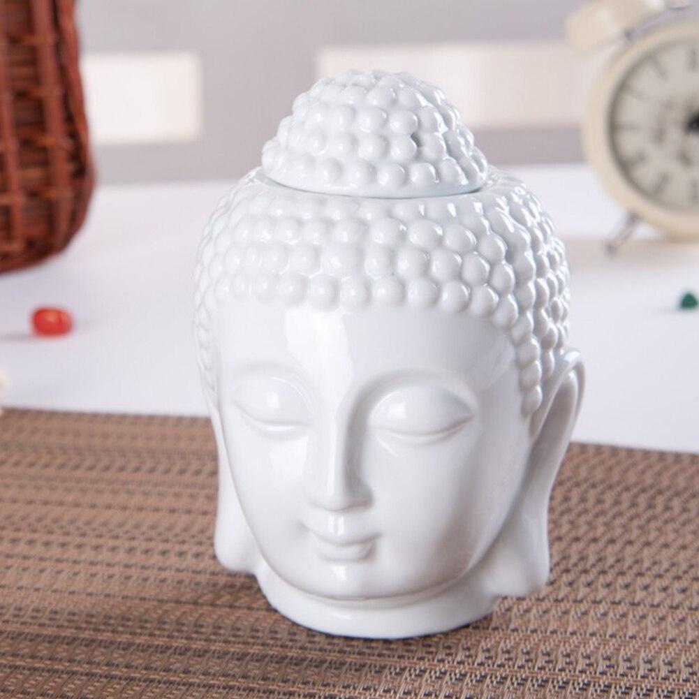 Ароматическая горелка с головой Будды, масляная горелка в стиле ретро, курильница для чайной церемонии, классический буддийский храм, доста...