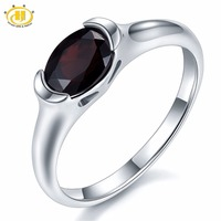 1 4Ct Mystery Black Garnet Solid 925 Sterling Silver Ring Natural Oval Gemstone Womens Fine Jewelry