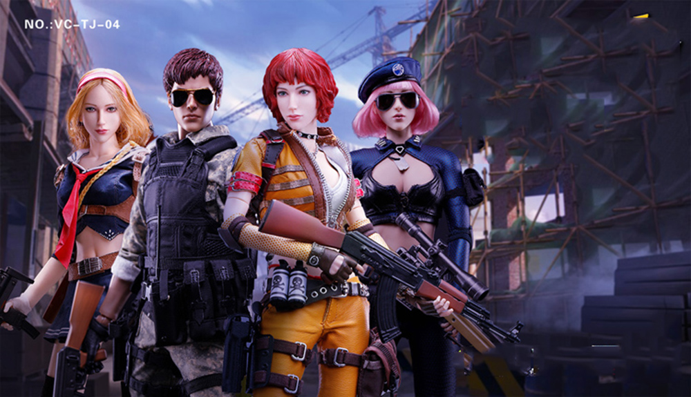 VERYCOOL VC-TJ-04 1//6 Scale WEFIRE Female Mercenary—Heart King Ship Form Cap