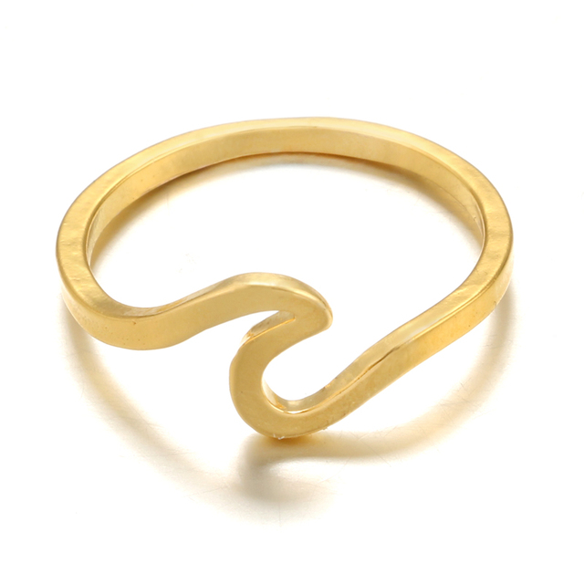 Surfer Ring in Gold, Silver or Rose Gold