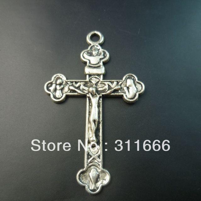 60 pcs/lot Cross tibet silver floating charms pendants Free shipping